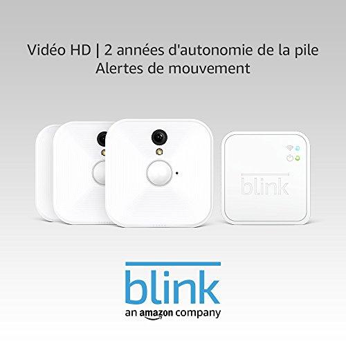 41%2BUqLrZX1L Bon plan !  Blink - Système de sécurité à domicile (intérieur) avec détection de mouvement, vidéo HD, 2 années d'autonomie de l...