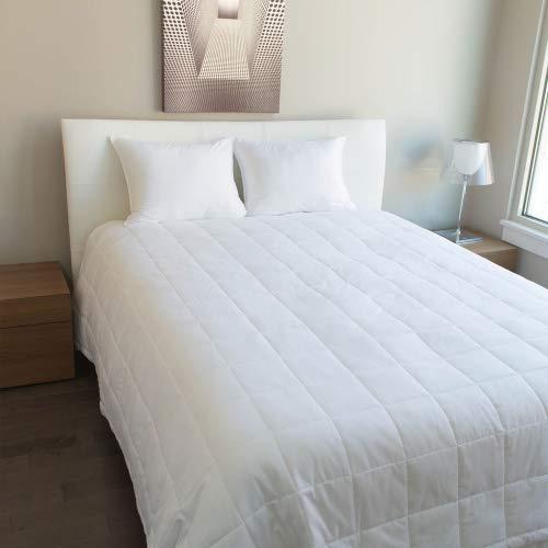 Luxus Baumwolle-All Season Daunen Alternative Kuscheldecke weiß uni, in 300TC Ägyptische Baumwolle erhältlich in Queen/Full/König/Zwei Größen, ägyptische Baumwolle, White Plain, Queen (88x90) inch -