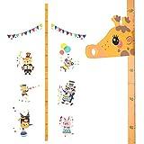 Cizen Wandschild für Kinder, zur Messung der Höhe des Wachstums von Kindern, geeignet für Kinderzimmer, Schlafzimmer, Wanddekoration für den Kindergarten Giraffenmuster