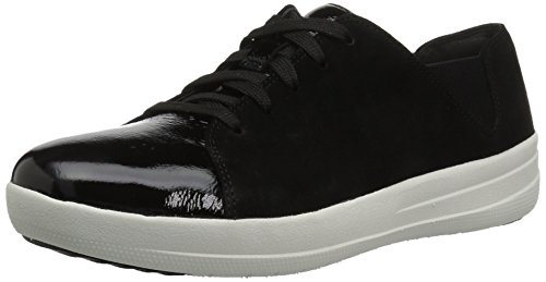 Fitflop Women's F-Sporty Lace-up Sneaker, Black
