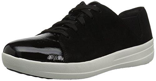 Fitflop Women's F-Sporty Lace-up Sneaker, Black