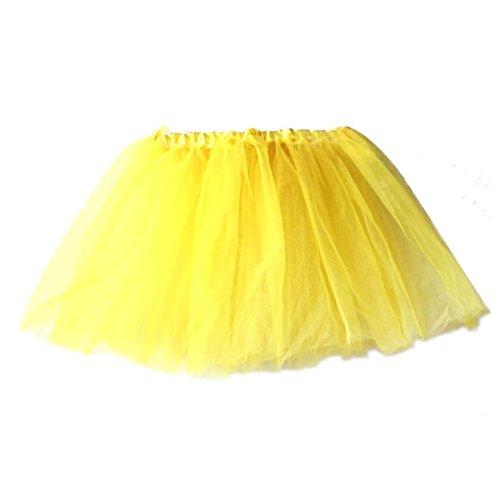 en Ballettkleid ❤️SHOBDW Nettes Qualitäts-Baby Mädchen Kinder feste Tutu Ballett Röcke Fancy Party Rock Für Hochzeitsfestparty-Fotoshooting (One Size, Gelb) (Fancy Dress Baby)