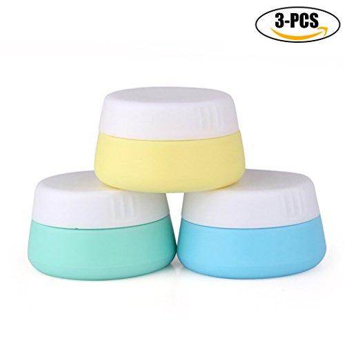 RéCipient Cosmétique, Kapmore 3Pcs Pot Cosmétique 0.68oz Pot De Crème Cosmétique Portable étanche Avec Couvercle