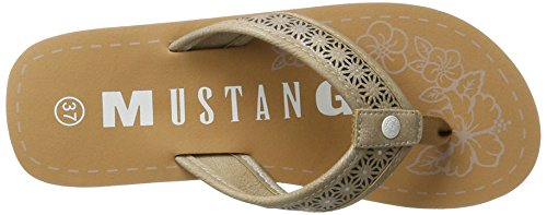 Mustang 1243-701-318, Sandales Bout Ouvert Femme Marron (318 Taupe)