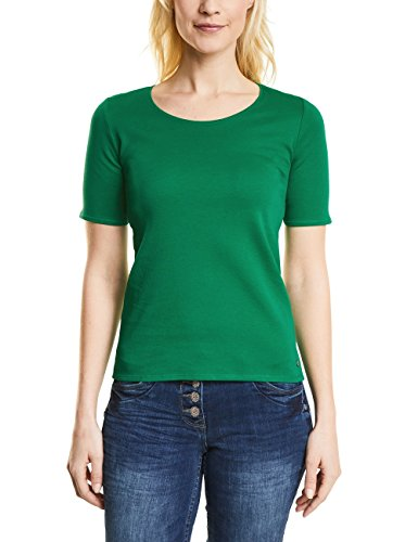 Cecil Damen T-Shirt 311780 Lena, Grün (Clover Green 11279), X-Large