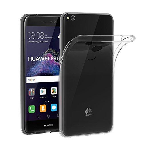 iVoler Funda Carcasa Gel Transparente para Huawei P8 Lite 2017, Ultra Fina 0,33mm, Silicona TPU de Alta Resistencia y Flexibilidad