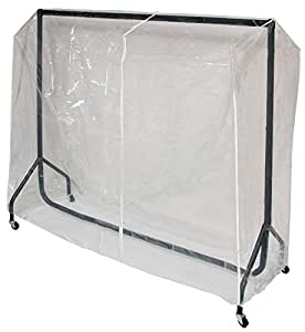 6ft Clear PVC Protective Cover for our 6ft Clothes Rail 188cm wide 150cm high 60cm deep with central zip. Superior Quality made by Caraselle