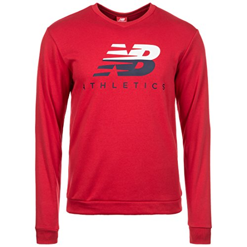 NEW BALANCE Athletics Crew felpa uomo rot