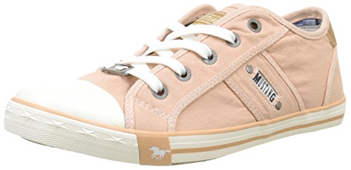 Mustang  1099-302-630,  Damen Sneakers , Orange - Orange - Orange (630 Pfirsich) - Größe: 39 (Orange Mustang)