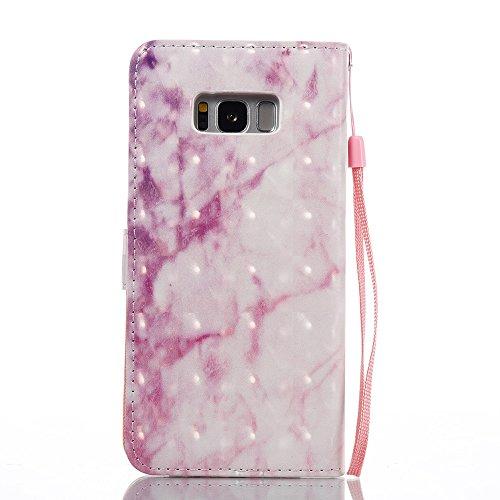 Marmor Stein Grain Texure Pattern PU Ledertasche Cover, Retro Bookstyle Flip Stand Case mit Magnetverschluss & Card Slots & Lanyard für Samsung Galaxy S8 Plus ( Color : D ) A