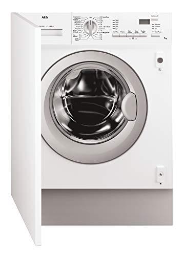 AEG L61470WDBI Waschtrockner Frontlader / Weiß / Waschmaschine (7 kg) mit Trockner (4 kg) / vollintegrierbare Einbauwaschmaschine mit Wäschetrockner / Kindersicherung und AquaControl