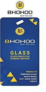 BHOHOO Best Premium High Quality Tempered Glass Screen Protector For Samsung Galaxy J7 - Clear