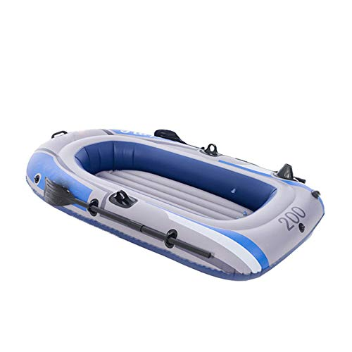 KFRSQ Luftmatratze Wasser Wasser aufblasbare Fischerboot im Freien Kajak Wasser Rafting Boot(198 × 122CM )