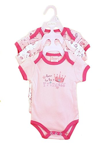 "3 Pack Girls Baby Grows pagliaccetto Body tuta 100% cotone morbido ""born to be a Princes 6 - 9 mesi"