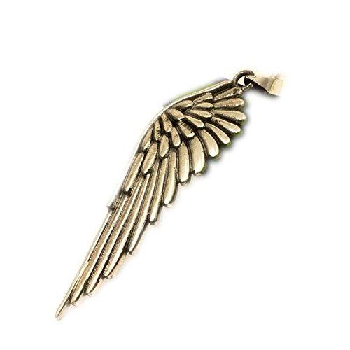 ASS 925 Silber große Anhänger Engelsflügel, oxidiert,Engel Flügel Kettenanhänger 57 mm (Wenn Engel Rufen)