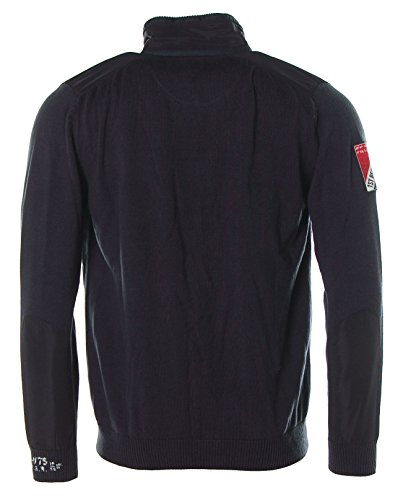 Kitaro Herren Strickjacke Jacke Stehkragen -Regatta Racing Week- Navy