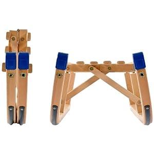Klappschlitten, Klapprodel 100 cm lang aus Holz, Platzsparend zusammenklappbar.