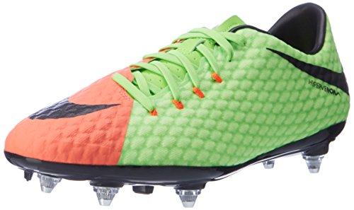 Nike Hypervenom Phelon Iii Sg, Scarpe da Calcio Uomo, Multicolore Verde (Elctrc Green/black-hyper Orange-volt)