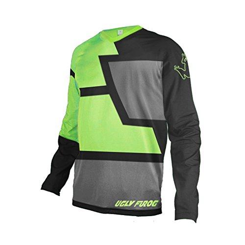Uglyfrog MT30 Herren Sommer&Frühling Lange Ärmel V-Kragen Motorsport Motorrad Moto Cycling Racing Racer T-Shirt