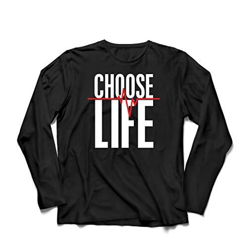 lepni.me Herren T Shirts Wählen Sie das Leben Herzschlag, Anti-Abtreibung politischen Protest, Christian Zitat (XXXX-Large Schwarz Mehrfarben)