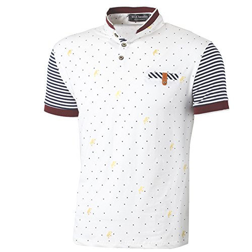 BTclassics Herren Poloshirt Weiß