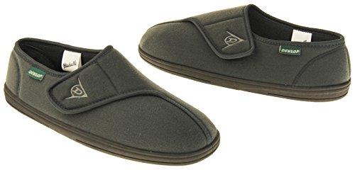 Footwear Studio Dunlop Scratch Chaussons Pour Homme Feutre Gris