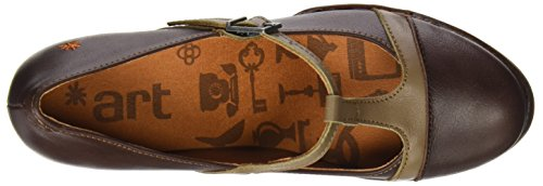 ART 0925 Star Harlem, Chaussures avec Bande Verticale Femme Marron (Brownrock)