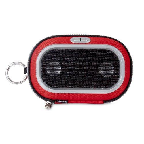iSound - Lautsprecher für MP3 - dreamGEAR i.Sound Concert To Go - Taschenlautsprecher für iPod, iPhone (rot)