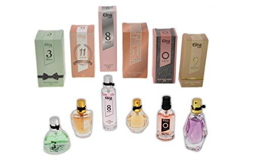 Trend Düfte: Set X 6 Parfüm für Damen 15 ML jedes einzeln in Box Spray Black Onyx (Eau de Parfum) + Geschenk Tasche gratis -