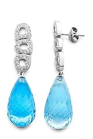 Miore - M0438W - Boucles d'Oreilles Pendantes Femme - Or Blanc 750/1000 (18 carats) 4.2 gr - Diamant 0.45 cts