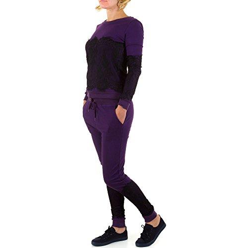2 Teiler Spitzen Freizeit Overall Für Damen bei Ital-Design Lila