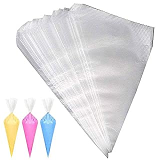 pengxiaomei 100 Pcs Plastic Disposable Pastry Bags Decorating Icing Piping Bags for Cake Dessert Decoration