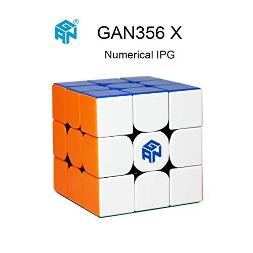 56 X Numerischer IPG Geschwindigkeitswürfel 3x3 Gan 356 X Zauberwürfel-Puzzle mit Einer Würfeltasche und Einem Würfelstativ (Stickerless) ()