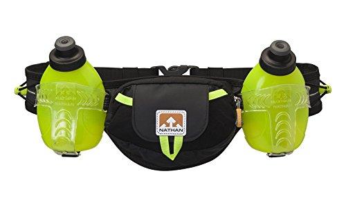 Nathan Hydration Belt Trail Mix Plus 20 Oz/600 Ml, Black/Safety Yellow,