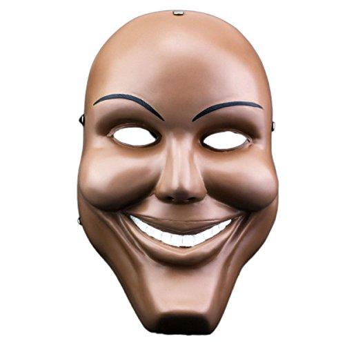 Halloween Collector's Edition Filme TV-Themen Menschliche Klare Pläne COS Human Smiley Tanzparty Harz-Maske Spielen,Brown-OneSize