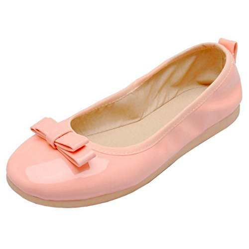 TAOFFEN Femmes Lovely Ballet Chaussures Light Pink-24