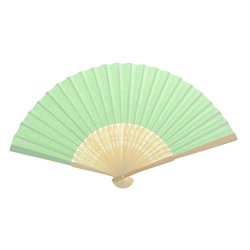 Einseitiges DIY Fertigkeit Phantasie Tanzparty Papierhand Fan- Tief Grün - Hellgrün