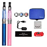 Salcar Ego-T CE4 E-cigarette Kit de Deux Cigarettes Electroniques (bleu+ rose), Sans...