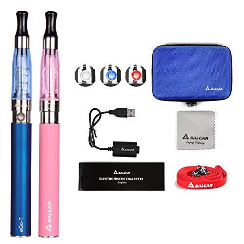 Salcar® Cigarrillo electrónico eGo-T CE4 con doble kit de iniciación, batería recargable...