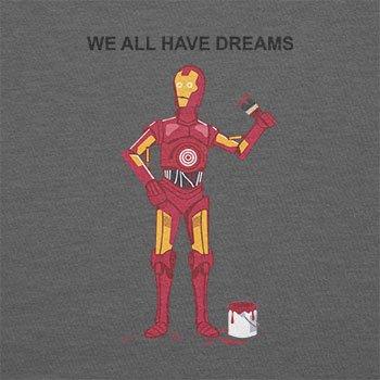 Texlab–We All Have Dreams–sacchetto di stoffa Grau