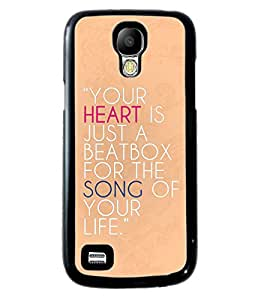 PrintVisa Metal Printed Quotes Designer Back Case Cover for Samsung Galaxy S4 Mini I9190/ I9192-D4986