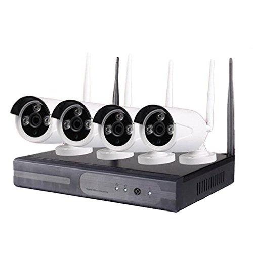 MTTLS Ip-kamera 4 Kamera und Video Recorder Kit WiFi Sicherheitssystem Nachtsicht Kamera Wireless Security Ip-kamera Home Security Kamera, B