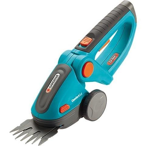 Gardena 8893 Akku Gras und Strauchschere ComfortCut; Handlich, leicht und wendig; Leistungsstark; Ergonomisch; Langlebig (Akku-Typ: Li-Ion, 7.2V, 1.45Ah; Arbeitsbreite: 8cm), blau