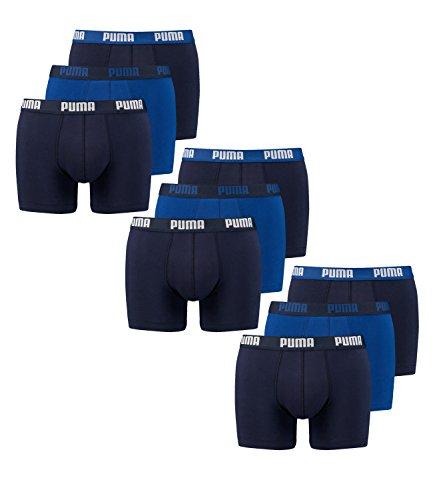 Puma 9 er Pack Boxer Boxershorts Herren Unterwäsche sportliche Retro Pants, Bekleidungsgröße:S, Farbe:056 - blue