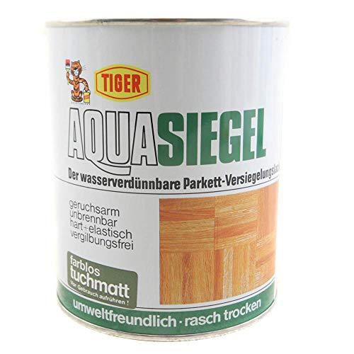 Tiger Parkett-versiegelunglack \'Aqua Siegel\' Hart+Elastisch Farblos Tuchmatt 1 liter