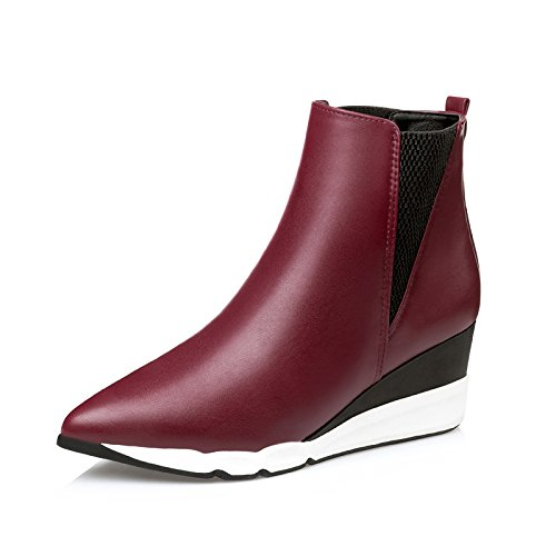 FLYRCX Autunno e Inverno stivali scarpe di pelle ladies breve sottolineato scarpe con i tacchi alti A