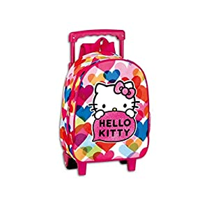 Hello Kitty Mochila Trolley Infantil Carro con ruedas  30cm
