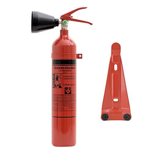 Preisvergleich Produktbild Feuerlöscher 2 kg CO² Kohlendioxid | EDV geeignet | DIN EN 3 + ANDRIS® Prüfnachweis mit Jahresmarke inkl. ISO-Symbolschild & GRATIS Textschild ,,Für EDV'