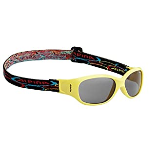 Alpina Kinder Sonnenbrille Optic-Line OVERVIEW yellow One Size