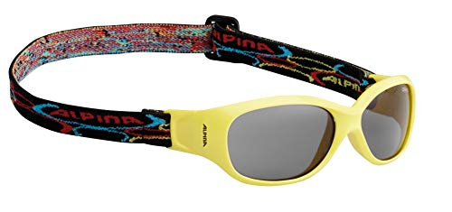 Alpina Kinder Sonnenbrille Optic-Line Overview, Yellow, One Size